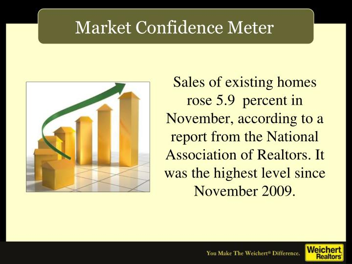 Sales of existing homes rose 5.9  percent in November, according to a report from the National Association of Realtors. It was the highest level since November 2009.