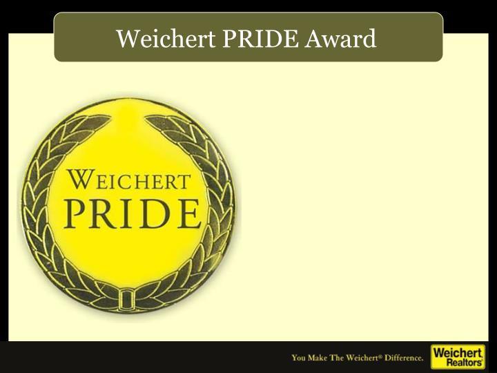 Weichert PRIDE Award