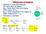 efficiencies of engines