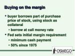 buying on the margin