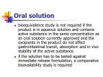 oral solution