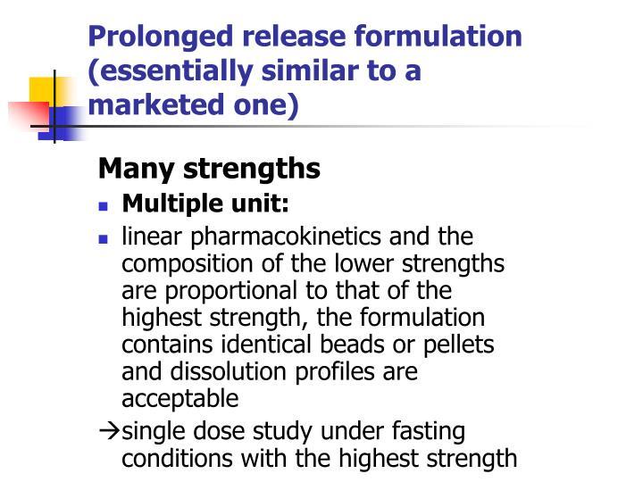 Prolonged release formulation