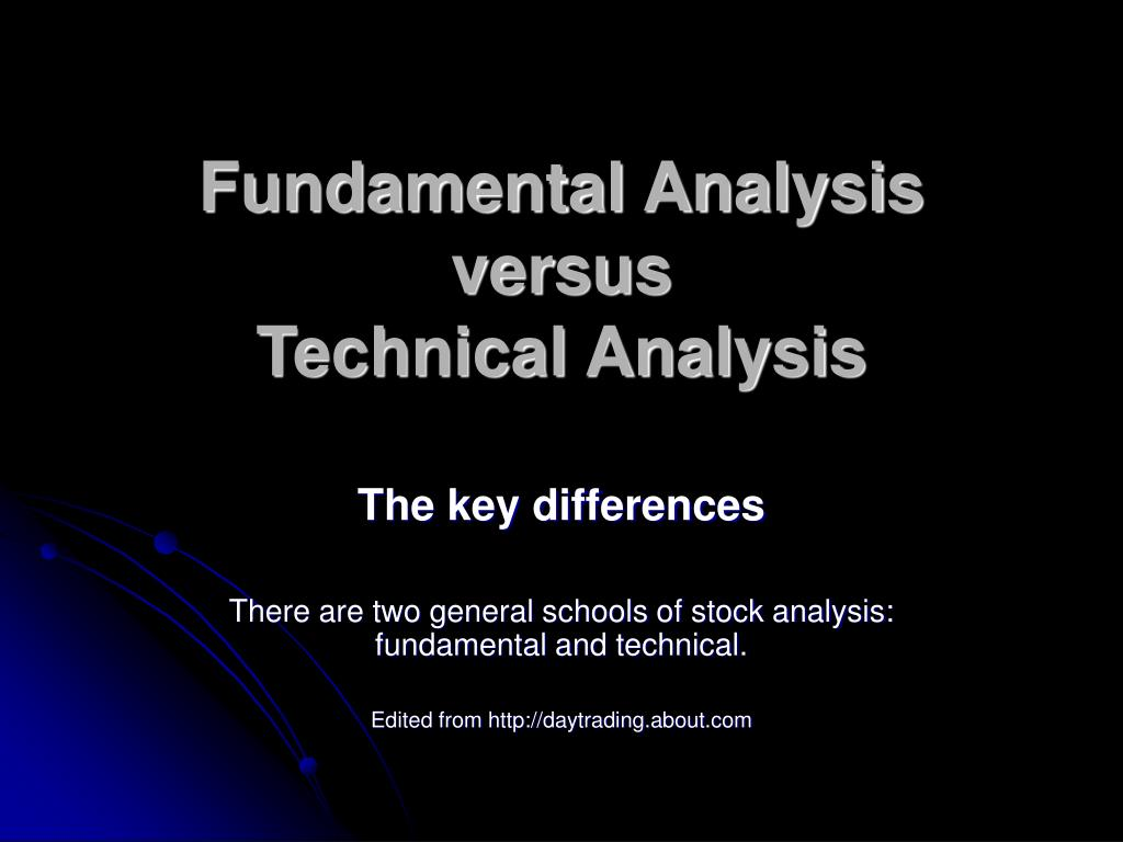 fundamental analysis versus technical analysis l.