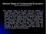 general steps to fundamental evaluation edited from www stockcharts com
