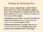 cutting shearing test