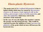 elasto plastic hysteresis