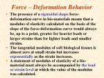 force deformation behavior75