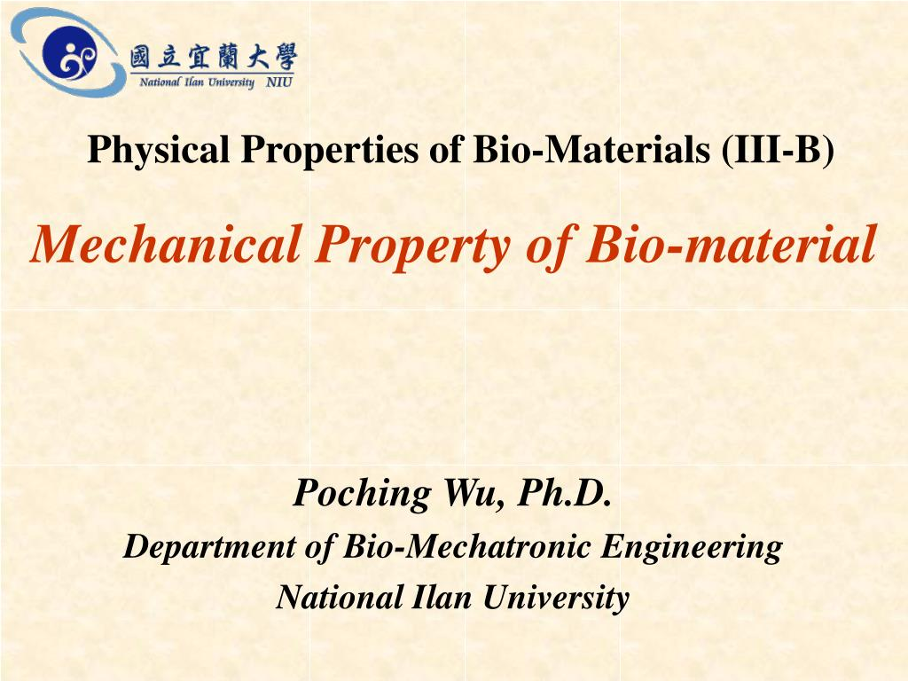 mechanical property of bio material l.