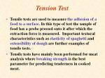 tension test