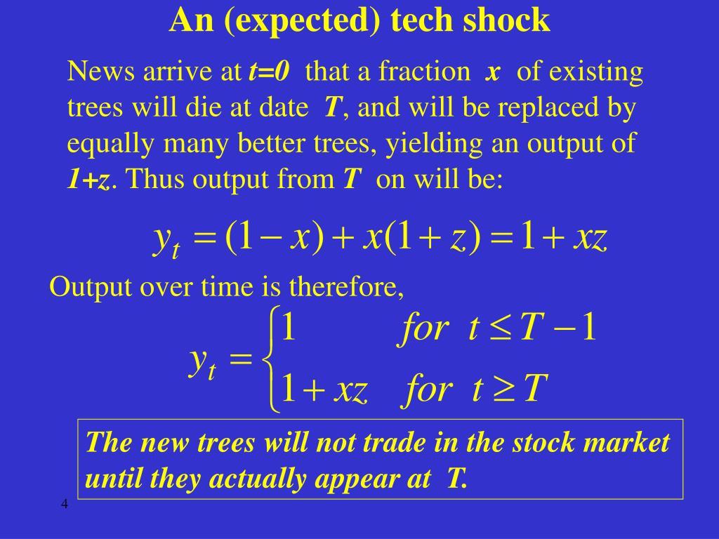 An (expected) tech shock