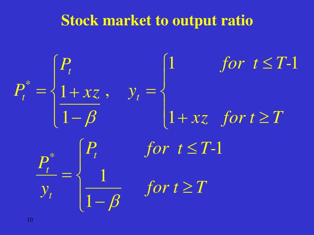 Stock market to output ratio