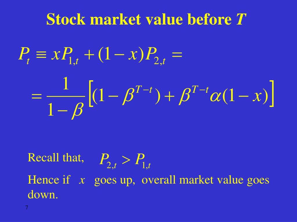 Stock market value before