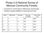 phase 2 of national survey of mexican community forests