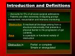 introduction and definitions