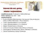 internet dla wsi gminy miasta i wojew dztwa