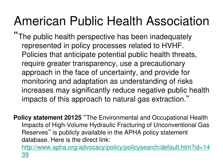 american public health association Information about american public health association (apha) including contact details (address, phone number and website).