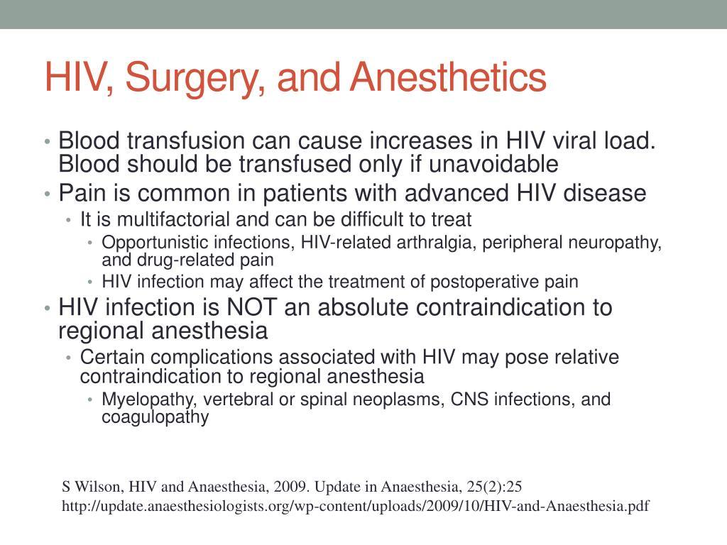 HIV, Surgery, and Anesthetics