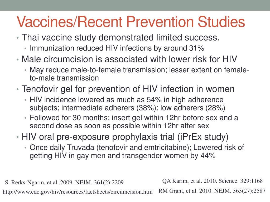 Vaccines/Recent Prevention Studies