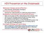 hiv prevention at the crossroads