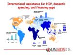international assistance for hiv domestic spending and financing gaps