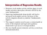 interpretation of regression results