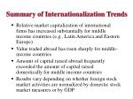 summary of internationalization trends