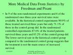 more medical data from statistics by freedman and pisani32