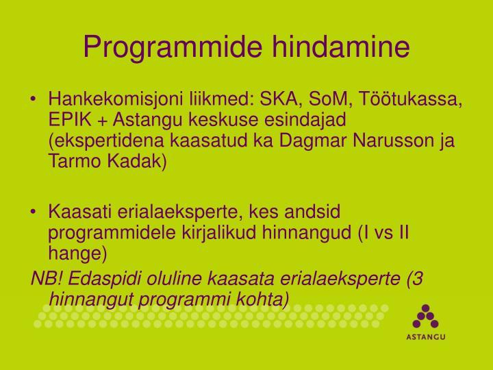 Programmide hindamine