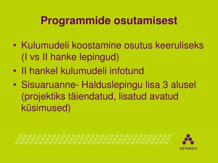 Programmide osutamisest