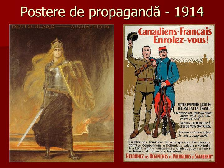 Postere de propagandă - 1914