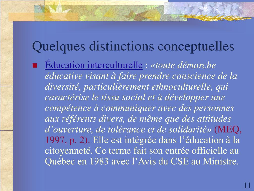 Quelques distinctions conceptuelles