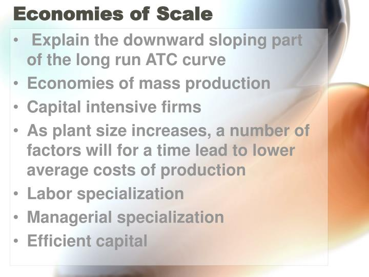 economies of the scale plant size economics essay This essay economies of scale is available for you on essays24com search term papers, college essay examples and free essays on the lrac curve shows the minimum per unit cost of producing each possible level of output after the firm has had enough time to alter the scale of its plant.