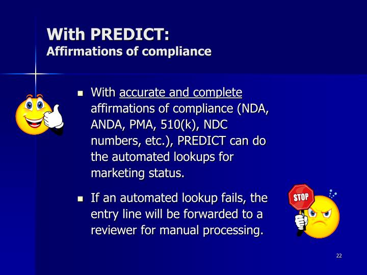 With PREDICT: