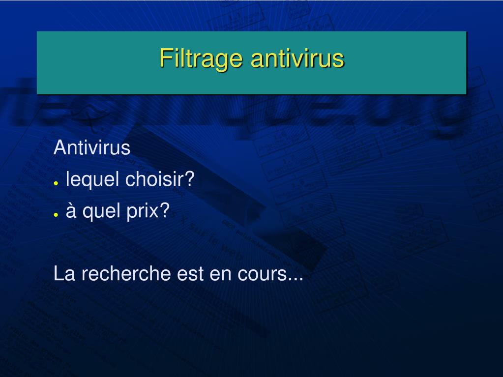 Filtrage antivirus