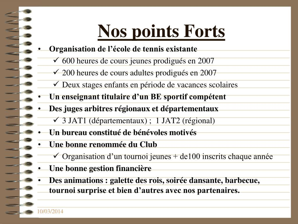 Nos points Forts