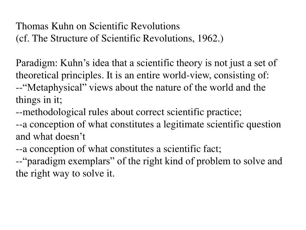 Thomas Kuhn on Scientific Revolutions