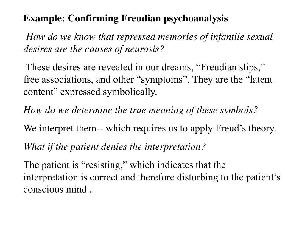 Example: Confirming Freudian psychoanalysis