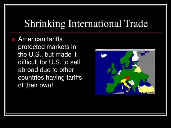 Shrinking International Trade