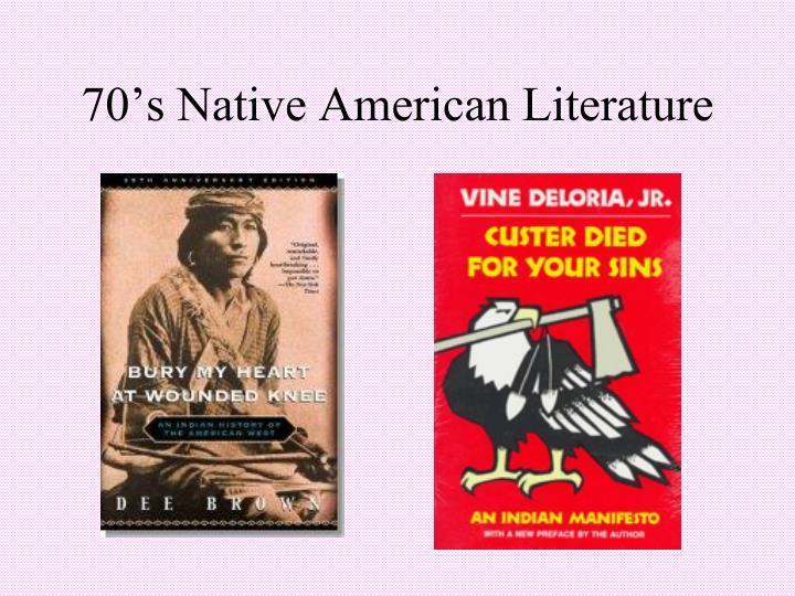 70's Native American Literature