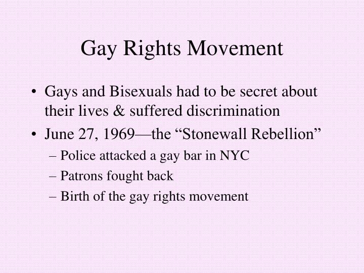 Gay Rights Movement
