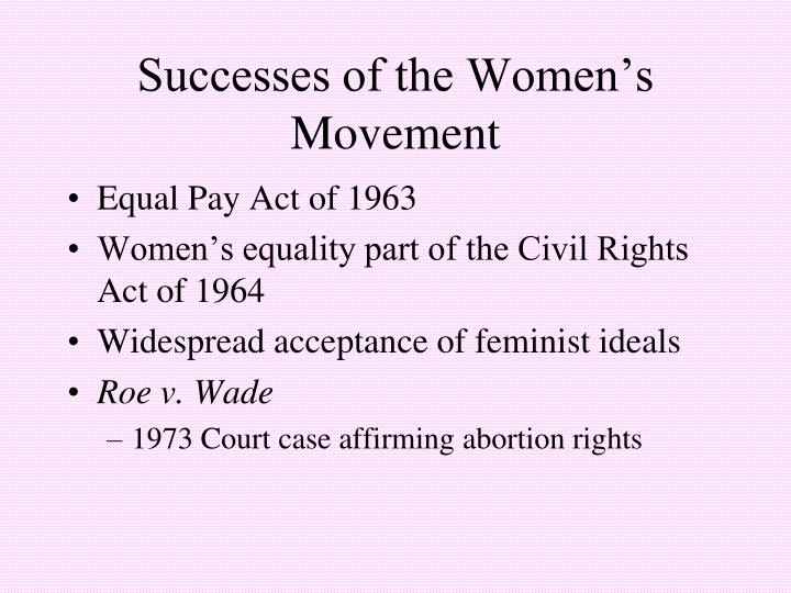 Successes of the Women's Movement