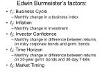 edwin burmeister s factors