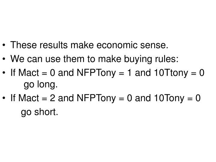 These results make economic sense.