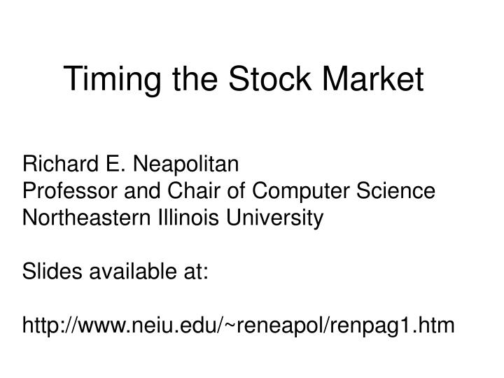 timing the stock market n.