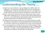understanding the theory 2 of 2