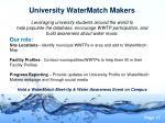 university watermatch makers