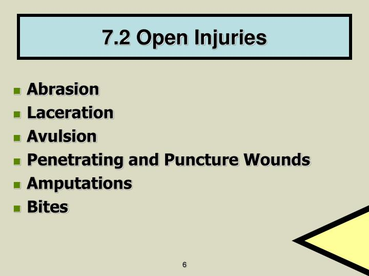 7.2 Open Injuries
