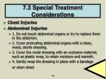 7 3 special treatment considerations