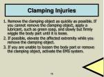 clamping injuries
