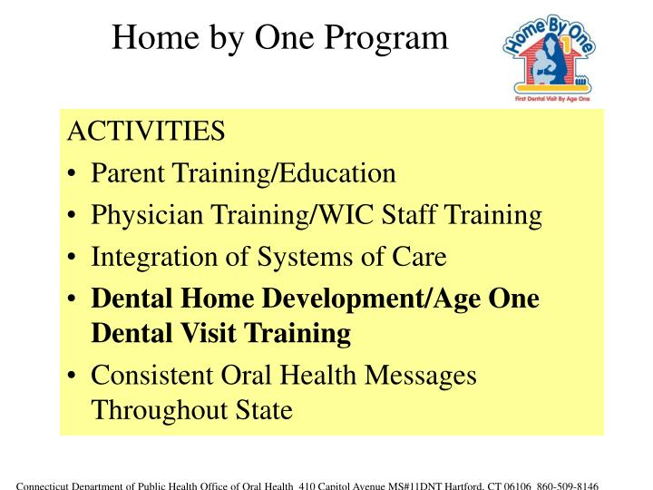 Home by One Program
